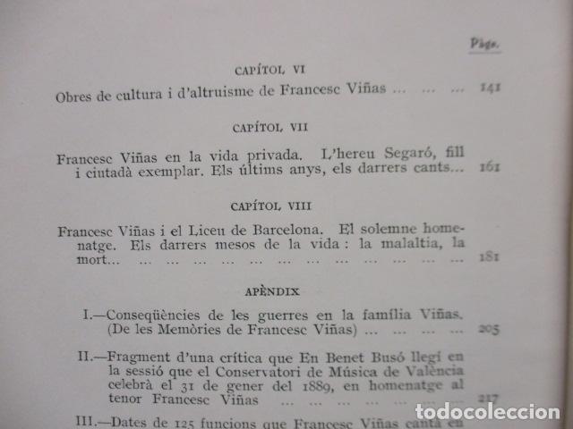 Libros antiguos: EL TENOR, POR FRANCESC VIÑAS. - Lleva una dedicatoria y firmada por Pere V. / ejemplar nº 54. - Foto 29 - 200088528