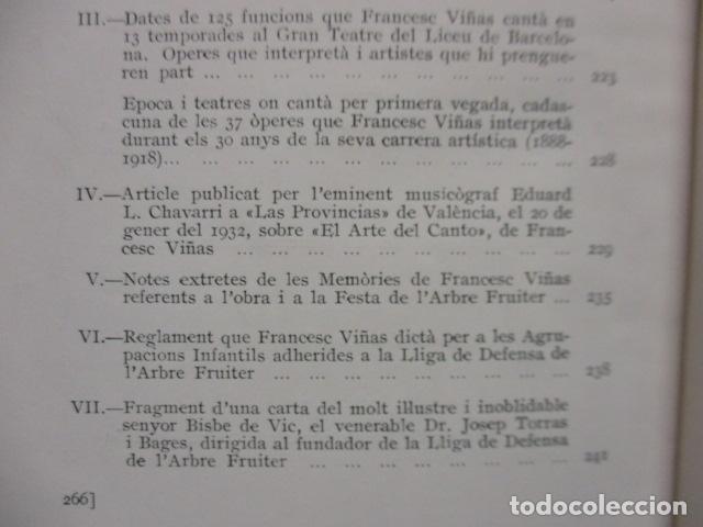 Libros antiguos: EL TENOR, POR FRANCESC VIÑAS. - Lleva una dedicatoria y firmada por Pere V. / ejemplar nº 54. - Foto 30 - 200088528