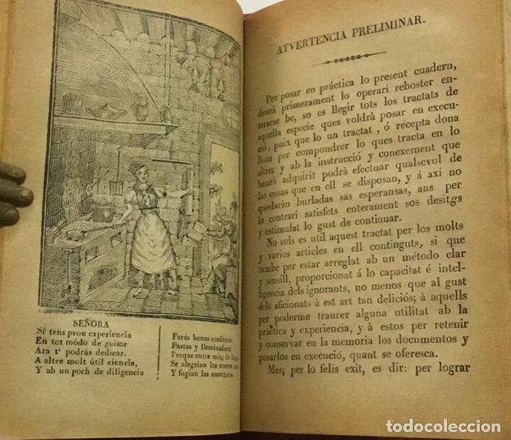 Libros antiguos: CUYNERA (LA ) CATALANA ó sia reglas útils, facils, seguras y económicas per cuynar bé. 1880-1884 - Foto 3 - 123142315