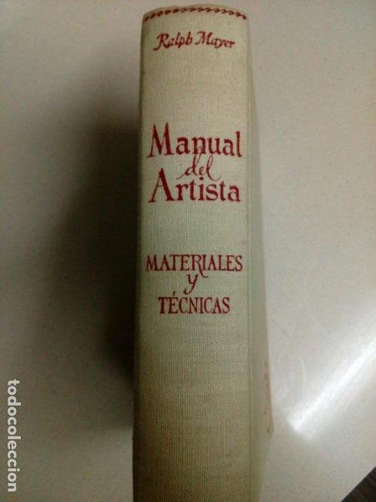 MANUAL DEL ARTISTA.RALPH MAYER.588 PG (Libros Antiguos, Raros y Curiosos - Ciencias, Manuales y Oficios - Otros)