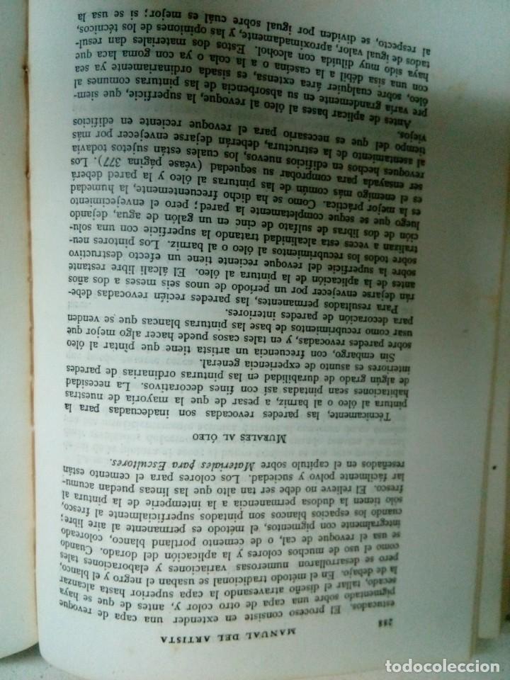 Libros antiguos: Manual del Artista.Ralph Mayer.588 pg - Foto 10 - 200396306
