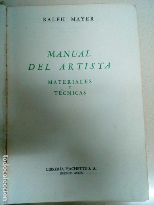 Libros antiguos: Manual del Artista.Ralph Mayer.588 pg - Foto 15 - 200396306
