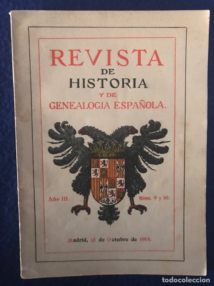 Libros antiguos: 14 Revistas de Historia y de Genealogía española (De 1914 y de 1927 a 1931) - Foto 2 - 200890150