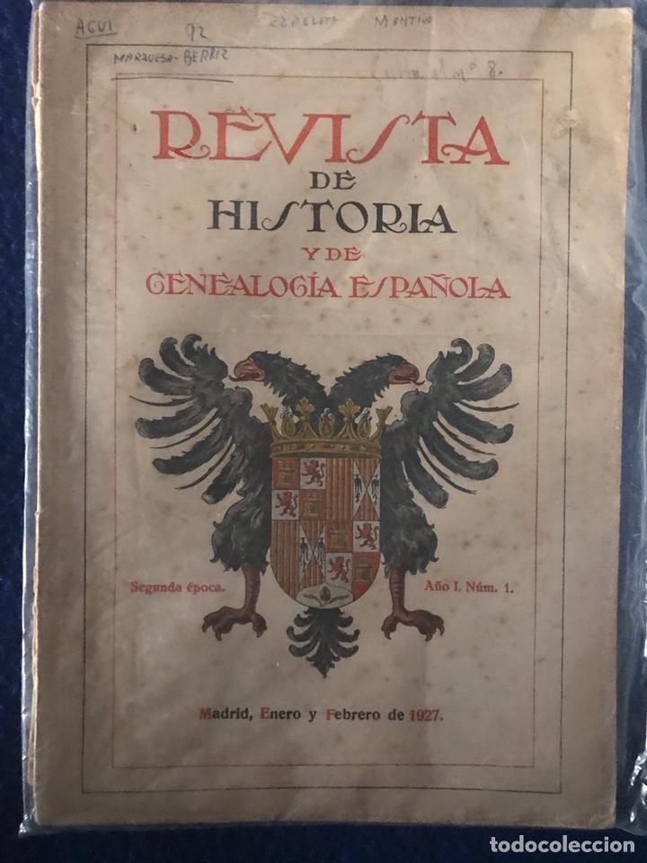 Libros antiguos: 14 Revistas de Historia y de Genealogía española (De 1914 y de 1927 a 1931) - Foto 3 - 200890150