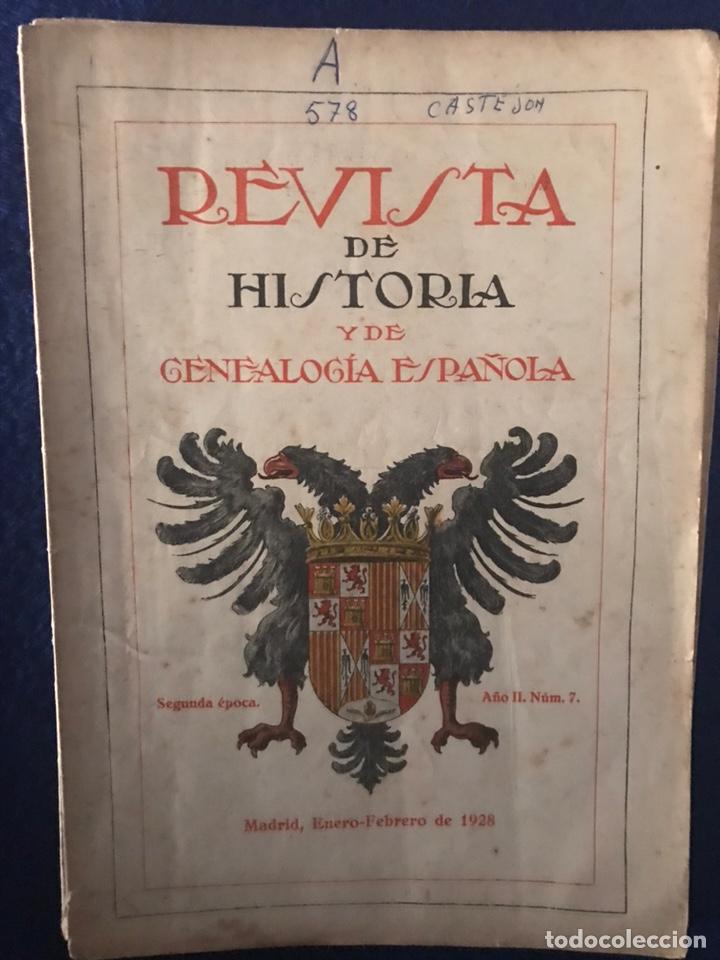 Libros antiguos: 14 Revistas de Historia y de Genealogía española (De 1914 y de 1927 a 1931) - Foto 5 - 200890150