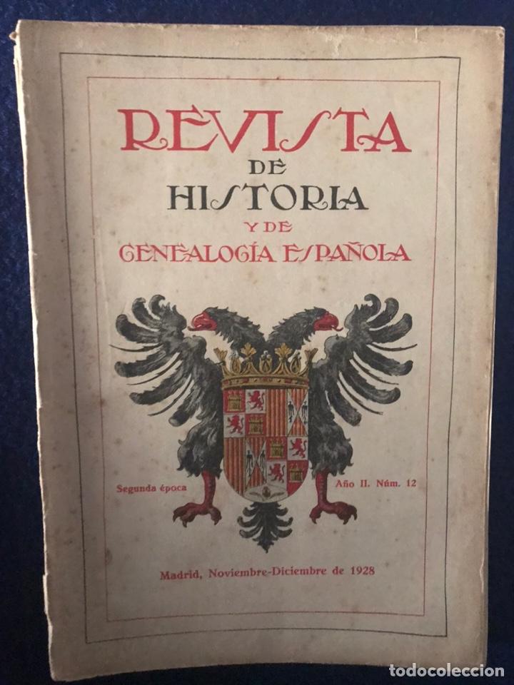 Libros antiguos: 14 Revistas de Historia y de Genealogía española (De 1914 y de 1927 a 1931) - Foto 7 - 200890150
