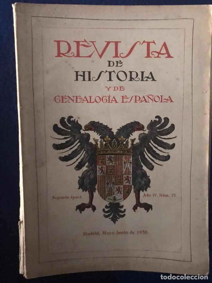 Libros antiguos: 14 Revistas de Historia y de Genealogía española (De 1914 y de 1927 a 1931) - Foto 13 - 200890150