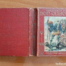 Livros antigos: 1914 ? DON QUIJOTE - CERVANTES / ARALUCE 1ª Y 2ª PARTE / 16 LÁMINAS A COLOR. Lote 201282425
