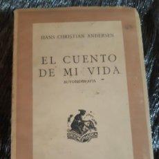 Libros antiguos: EL CUENTO DE MI VIDA, HANS CHISTIAN ANDERSEN, LIBRERIA NAUSICA, 1942. Lote 201326605