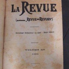 Libros antiguos: LIBRO MUY ANTIGUO LA REVUE DES REVUES JEAN FINOT 1904 PARIS. Lote 201515605