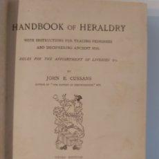 Libri antichi: HERÁLDICA - HANDBOOK OF HERALDRY / JOHN E. CUSSANS (LONDON, 1882). Lote 201544858