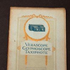 Livros antigos: VERASCOPE, GLYPHOSCOPE, TAXIPHOTE - 1918. Lote 201599726