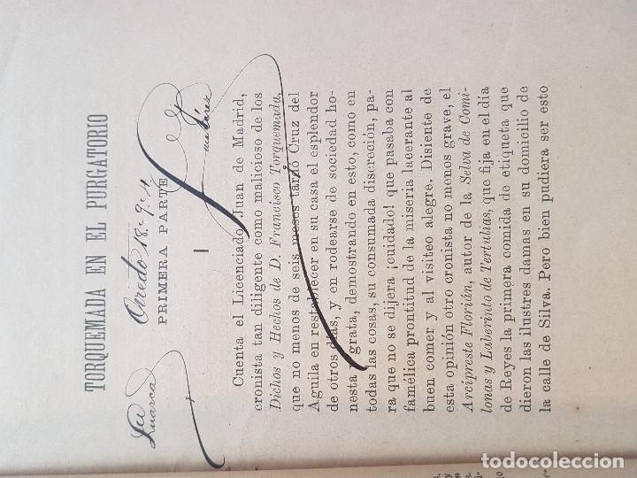 Libros antiguos: PÉREZ GALDÓS:NOVELAS ESPAÑOLAS CONTEMPORANEAS-TORQUEMADA EN EL PURGATORIO-1ª EDIC 1894 - Foto 2 - 201615123