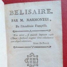 Libros antiguos: BELISAIRE PAR M MARMONTIEL DE L'ACADEMIE FRANÇOIFE. 1767. EN FRANCÉS. Lote 201658962