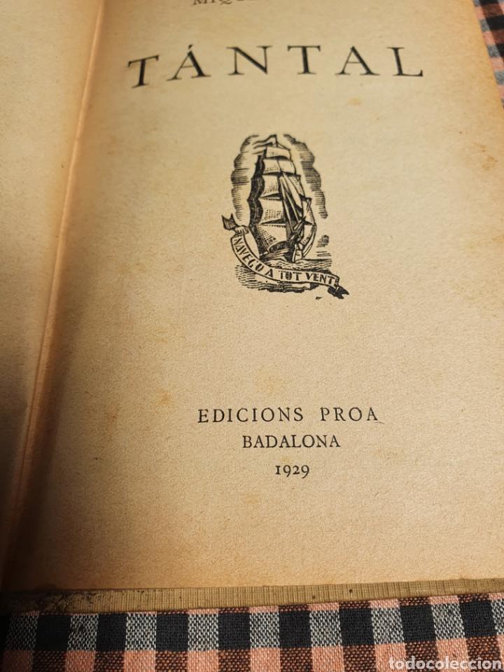 Libros antiguos: Tántal, Miguel llor, edicions proa 1929. - Foto 2 - 201838252
