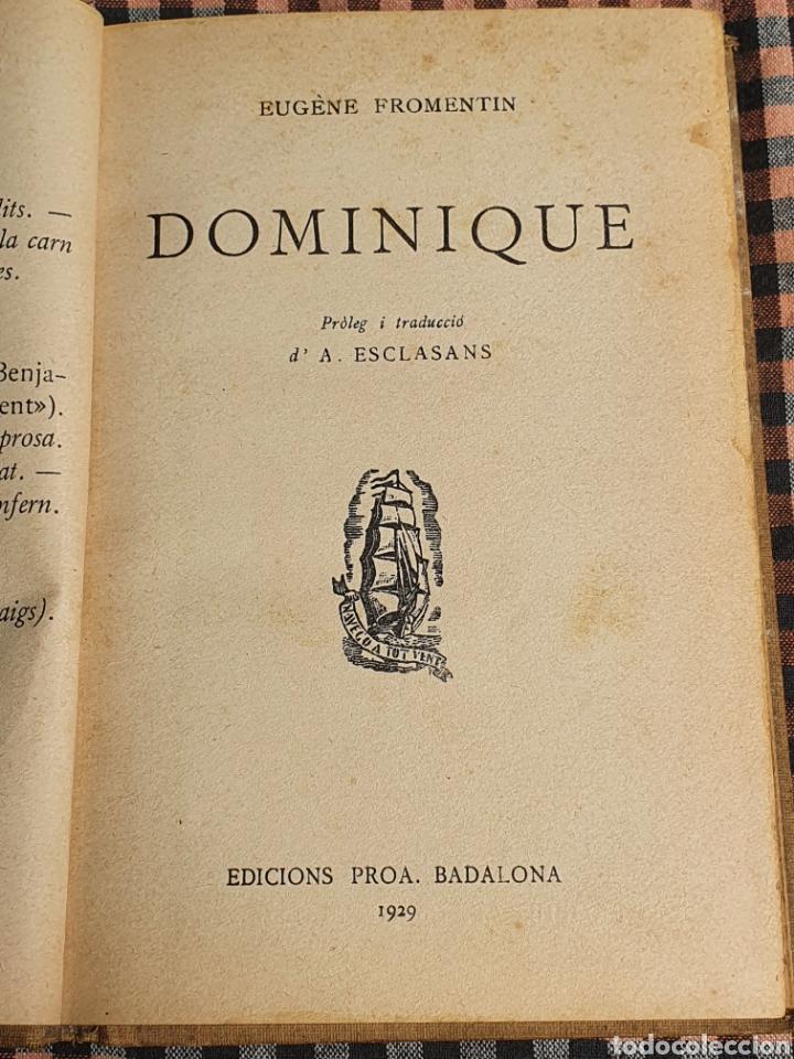 DOMINIQUE EUGENESIA PROMENTIN, EDICIONS PROA 1929 (Libros Antiguos, Raros y Curiosos - Literatura - Otros)