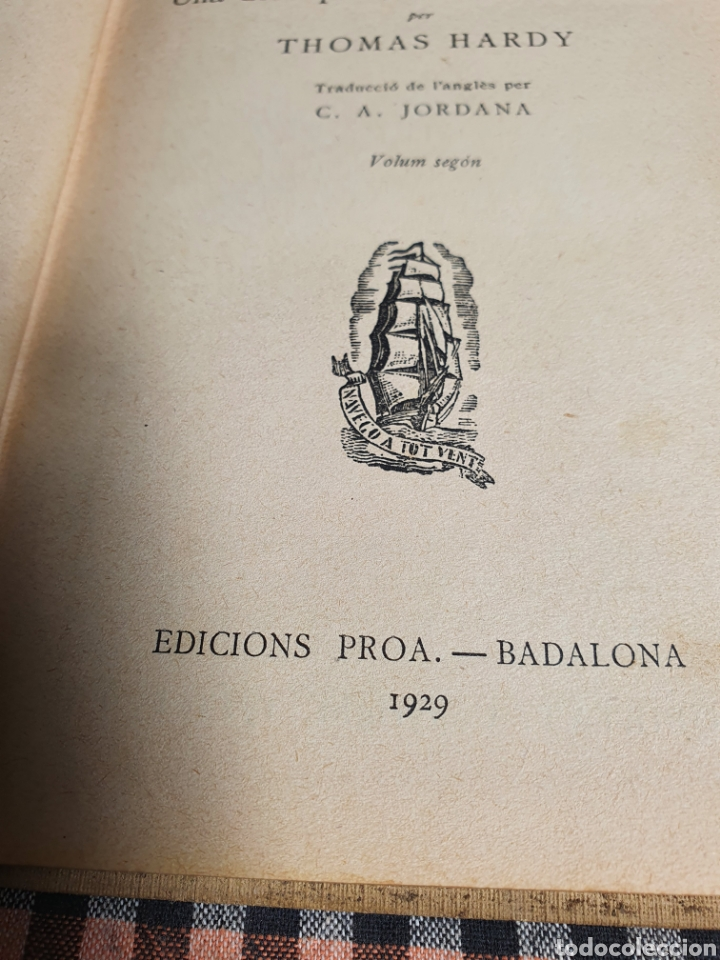 Libros antiguos: Teresa dels urbervilles, Thomas hardy 1929. - Foto 7 - 201839585