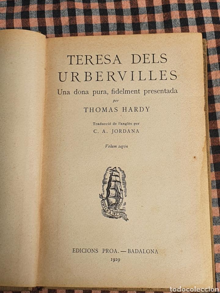 TERESA DELS URBERVILLES, THOMAS HARDY 1929. (Libros Antiguos, Raros y Curiosos - Literatura - Otros)