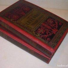 Libros antiguos: DOS TOMOS OBRA COMPLETA...LEYENDAS Y TRADICIONES (BARCELONA)...AÑO 1887. Lote 201859922