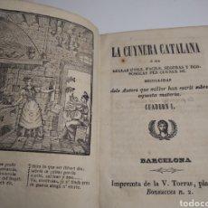 Livros antigos: LIBRO ANTIGUO DE COCINA LA CUYNERA CATALANA - LA CUINERA CATALANA LA COCINERA CATALANA - BARCELONA -. Lote 202307273