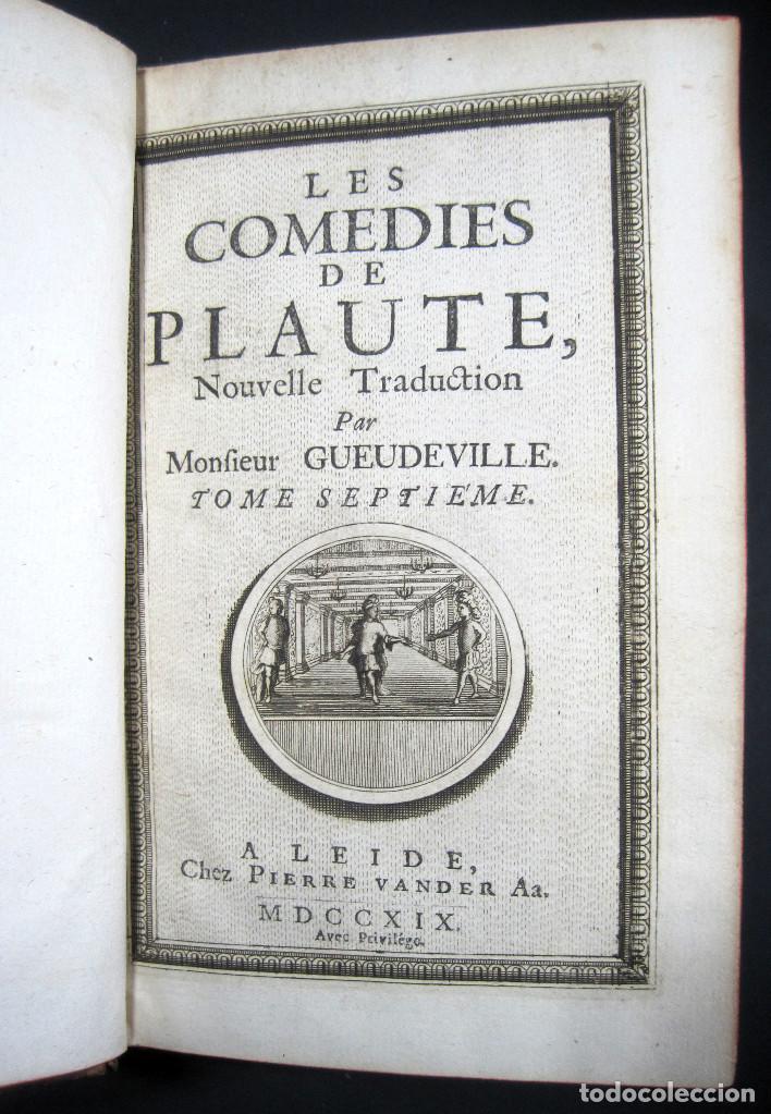 Libros antiguos: Año 1719 El mercader El impostor Antigua Roma Comedias de Plauto Grabados Plaute Plautus T7 - Foto 8 - 103890311
