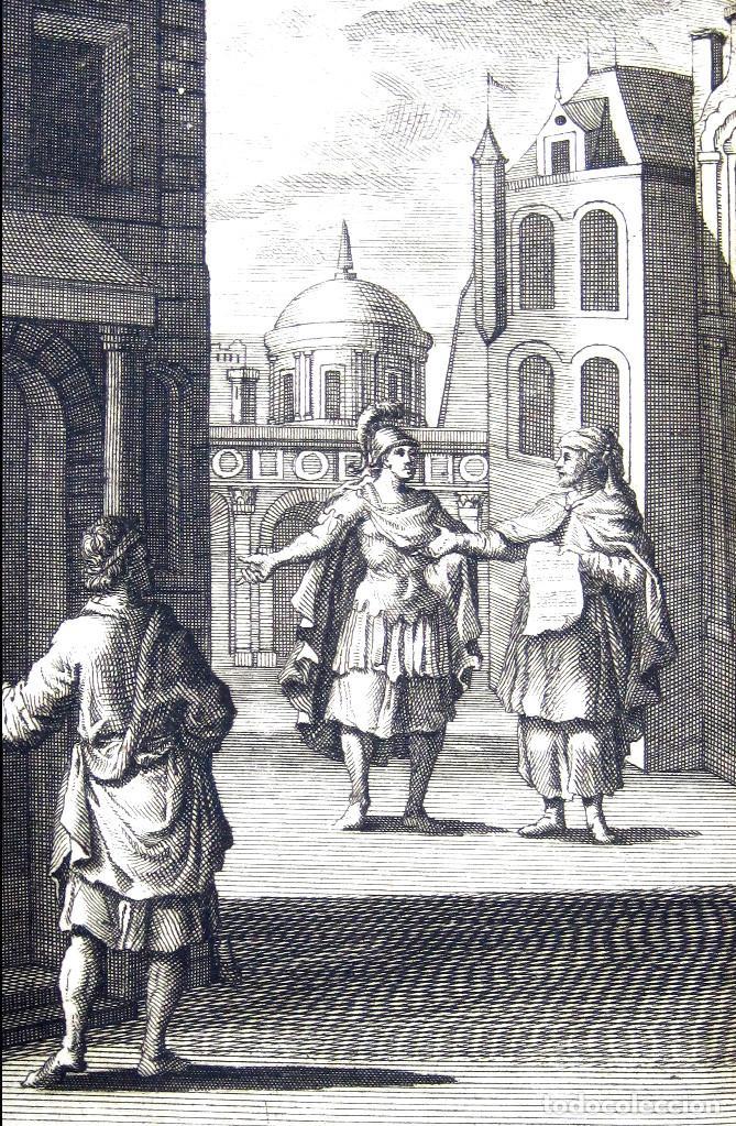 Libros antiguos: Año 1719 El mercader El impostor Antigua Roma Comedias de Plauto Grabados Plaute Plautus T7 - Foto 14 - 103890311