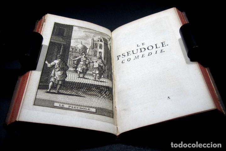 Libros antiguos: Año 1719 El mercader El impostor Antigua Roma Comedias de Plauto Grabados Plaute Plautus T7 - Foto 16 - 103890311