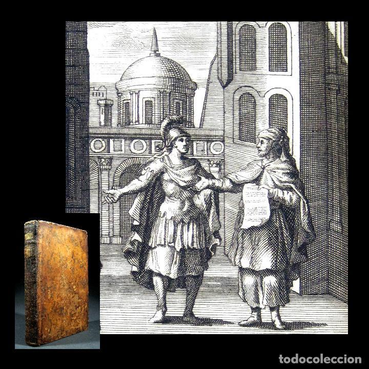 Libros antiguos: Año 1719 El mercader El impostor Antigua Roma Comedias de Plauto Grabados Plaute Plautus T7 - Foto 19 - 103890311