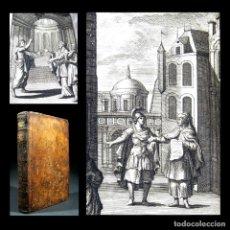 Libros antiguos: AÑO 1719 EL MERCADER EL IMPOSTOR ANTIGUA ROMA COMEDIAS DE PLAUTO GRABADOS PLAUTE PLAUTUS T7. Lote 103890311