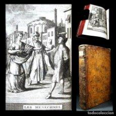 Libros antiguos: AÑO 1719 LOS GEMELOS EL SOLDADO FANFARRÓN ANTIGUA ROMA COMEDIAS DE PLAUTO GRABADOS PLAUTE T6. Lote 103839391