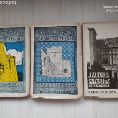 Libros antiguos: CASTILLOS MEDIOEVALES DE NABARRA TOMOS I Y II - COLECCIÓN ZABALKUNDE. Lote 132352510