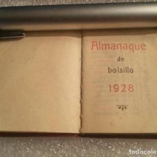 Livres anciens: ALMANAQUE 1928 EN MINIATURA. ENCUADERNADO EN PIEL. ADREMA. VER FOTOGRAFÍAS. PIEZA ÚNICA.. Lote 202837852