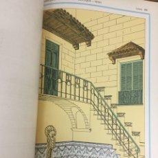 Libros antiguos: ANTIGUAS LÁMINAS DE PROYECTOS DE ALBAÑILERÍA. ENCUADERNADAS. PPIOS SIGLO XX. MODERNISTA.. Lote 202882703