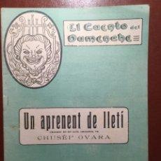 Libros antiguos: EL CUENTO DEL DUMENCHE. VALENCIA 1918. UN APRENENT DE LLETÍ. Lote 202902502