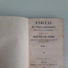 Libros antiguos: FÁBULAS EN VERSO CASTELLANO PARA USO DE LAS ESCUELAS - TOMO I - FÉLIX MARÍA SAMANIEGO - 1840. Lote 203113962