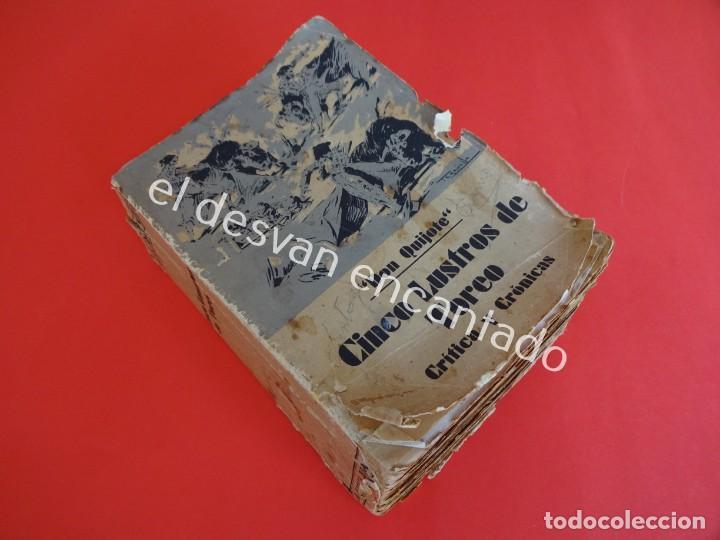DON QUIJOTE. CINCO LUSTROS DE TOREO. CRÍTICA Y CRÓNICAS. AÑO 1933 (Libros Antiguos, Raros y Curiosos - Bellas artes, ocio y coleccionismo - Otros)