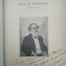 Libros antiguos: DISCURSOS 1910 ARNO DE VILLAFRANCA EJ NUMERADO Y FIRMADO POR AUTOR ANARQUISMO VACUNACION VIRUELA. Lote 203262172