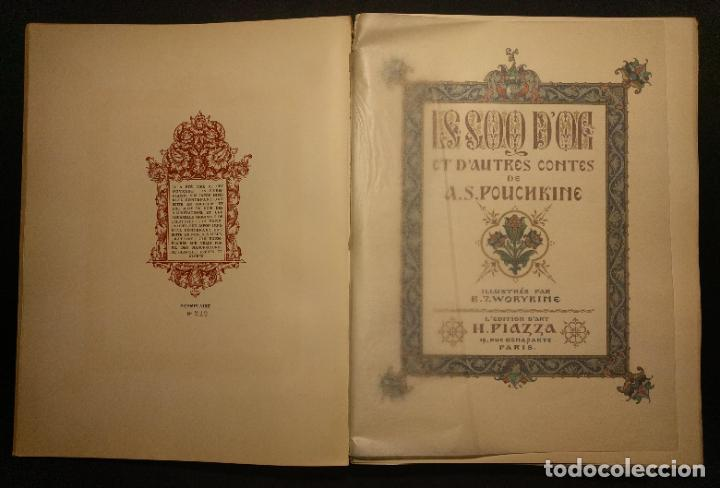 Libros antiguos: Le coq DOr et dautres contes de A. S. Pouchkine. Illustrés par B. Z. Worykine. Paris. LEdition D - Foto 3 - 203296143