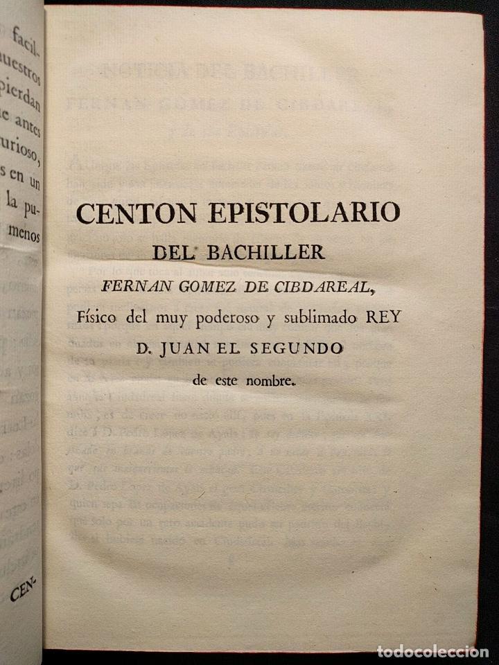 Libros antiguos: Centón epistolario. Gómez de Cibdareal. Claros Varones... Fernando del Pulgar. 1775. - Foto 4 - 203296333