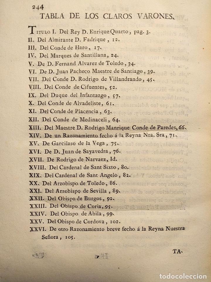 Libros antiguos: Centón epistolario. Gómez de Cibdareal. Claros Varones... Fernando del Pulgar. 1775. - Foto 6 - 203296333
