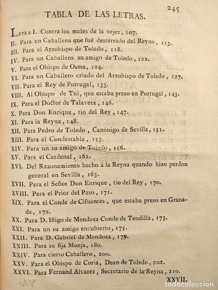 Libros antiguos: Centón epistolario. Gómez de Cibdareal. Claros Varones... Fernando del Pulgar. 1775. - Foto 7 - 203296333