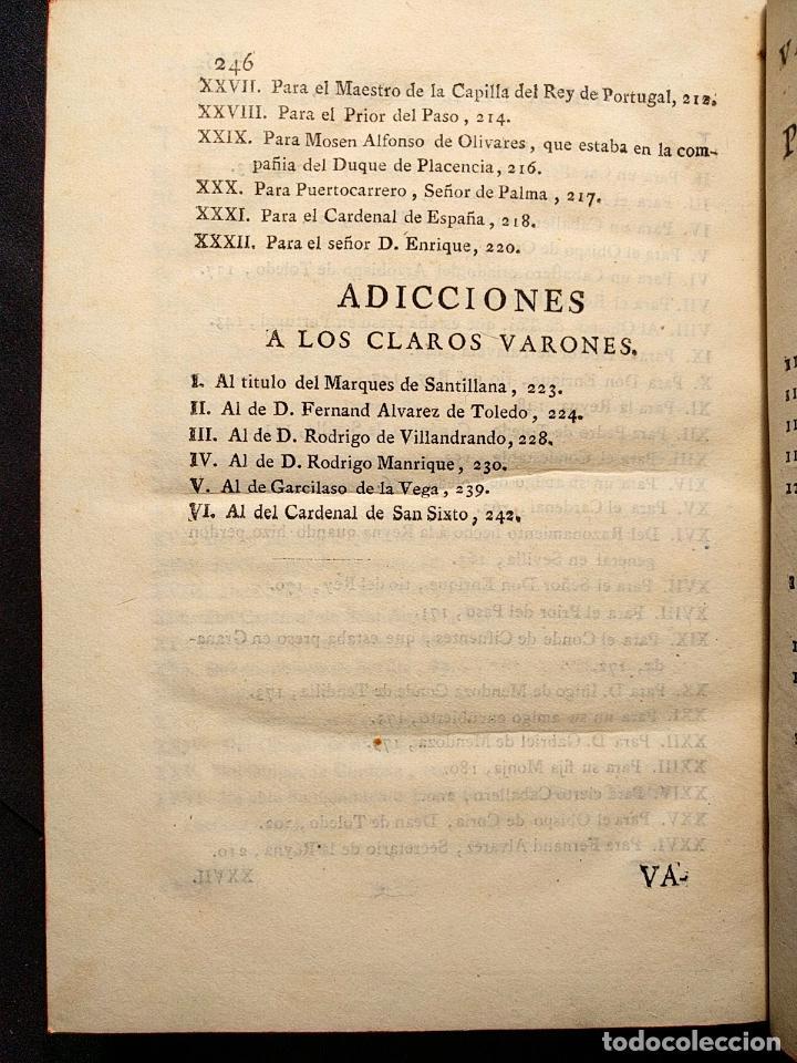 Libros antiguos: Centón epistolario. Gómez de Cibdareal. Claros Varones... Fernando del Pulgar. 1775. - Foto 8 - 203296333