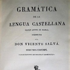 Libros antiguos: GRAMÁTICA DE LA LENGUA CASTELLANA SEGÚN AHORA SE HABLA....(1835). Lote 203555086