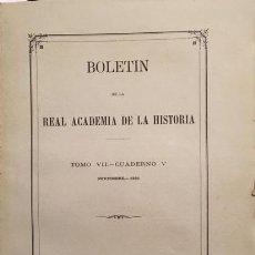 Libri antichi: PROCURADORES DE LAS ALJAMAS HEBREAS (CASTILLA). PRIMERAS... YUCATÁN. 1885. B ACADEMIA DE LA HISTORIA. Lote 203593066