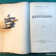 Libros antiguos: JOSÉ MARÍA DE LIZANA. RECUERDOS. VASCO. BILBAO 1885. Lote 203615520