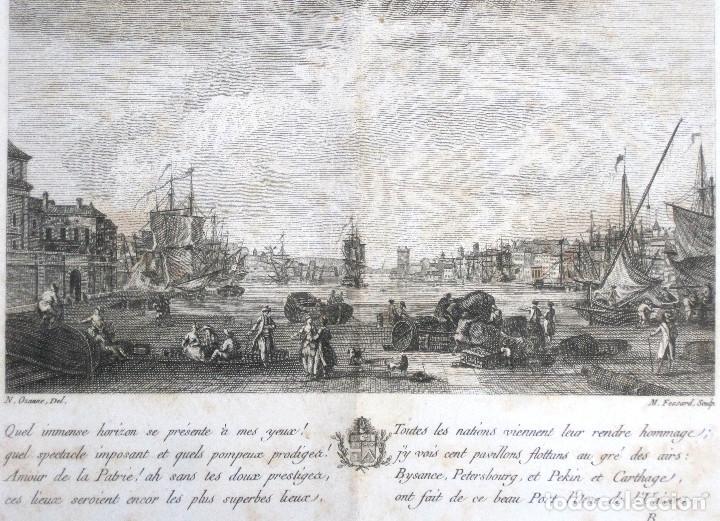 Libros antiguos: Año 1786 Primera Edición de Las tardes provenzales Grabado a doble página Marsella Ninguno en España - Foto 3 - 203796573
