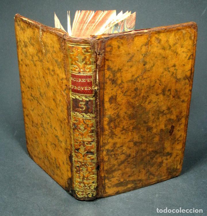 Libros antiguos: Año 1786 Primera Edición de Las tardes provenzales Grabado a doble página Marsella Ninguno en España - Foto 4 - 203796573