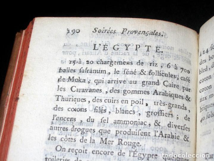 Libros antiguos: Año 1786 Primera Edición de Las tardes provenzales Grabado a doble página Marsella Ninguno en España - Foto 9 - 203796573