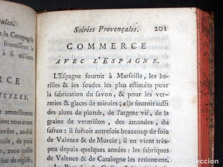 Libros antiguos: Año 1786 Primera Edición de Las tardes provenzales Grabado a doble página Marsella Ninguno en España - Foto 11 - 203796573