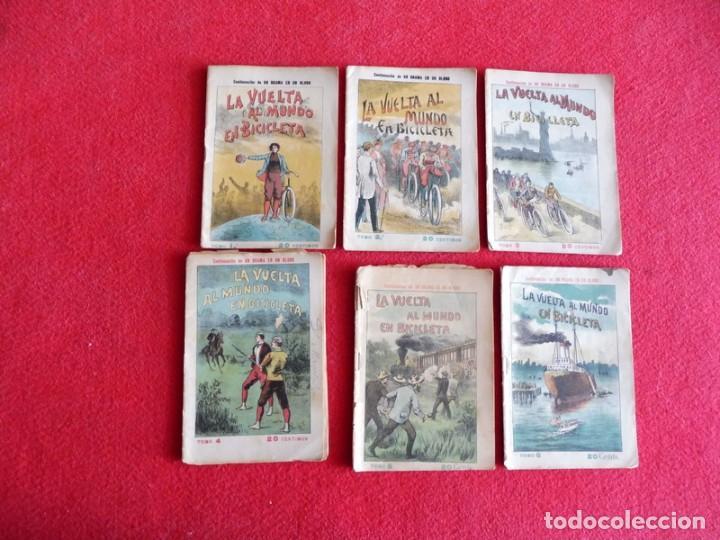 NOVELA AVENTURAS AÑOS 20 - 6 FASCÍCULOS DE LA VUELTA AL MUNDO EN BICICLETA (OBRA COMPLETA) (Libros antiguos (hasta 1936), raros y curiosos - Literatura - Narrativa - Otros)